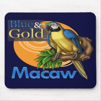 Blått- och guldMacaw Mousepad Musmatta