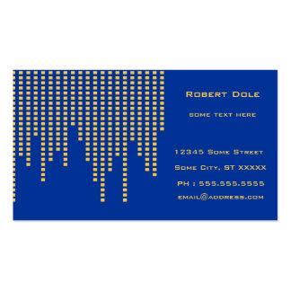 Blått och gult set av standard visitkort