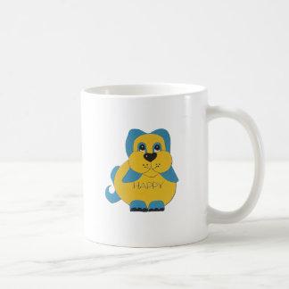Blått- och gultlyckligvalp kaffemugg