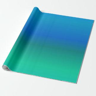 Blått och kricka som slår in papper presentpapper