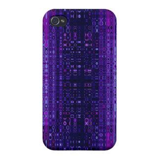 Blått- och lilaabstrakt mönstrar fodral för iPhone iPhone 4 Skydd