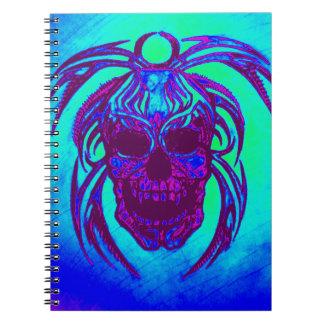 Blått- och lilaskalleanteckningsbok anteckningsbok