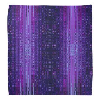 Blått och purpurfärgad modern abstrakt Bandana