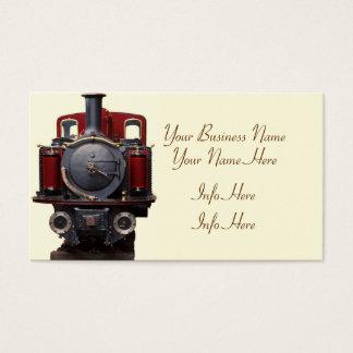 Blått och rött tåg visitkort