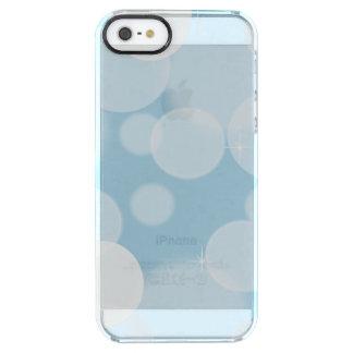 Blått och vit Bokeh Clear iPhone SE/5/5s Skal