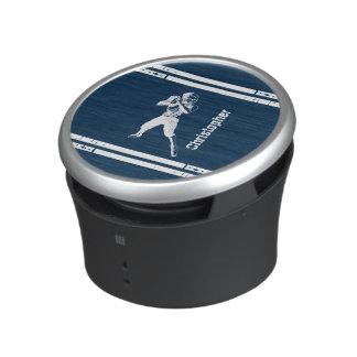 Blått och vit för GrungefotbollQuarterback Speaker