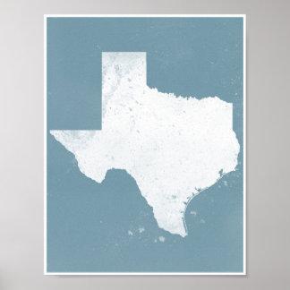 Blått och vit Texas Poster