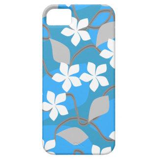 Blått- och vitblommor. Blom- modell iPhone 5 Cover