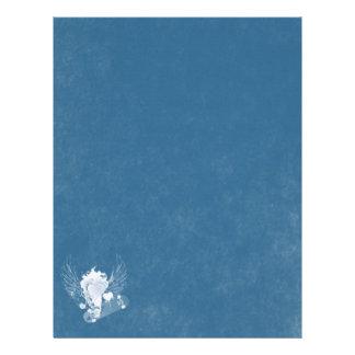 Blått- och vithjärta brevhuvud