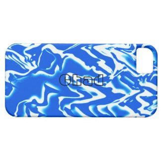 Blått- och vitiPhone 5 täcker för Tchad iPhone 5 Cover