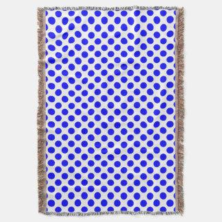 Blått- och vitpolkaen pricker filt