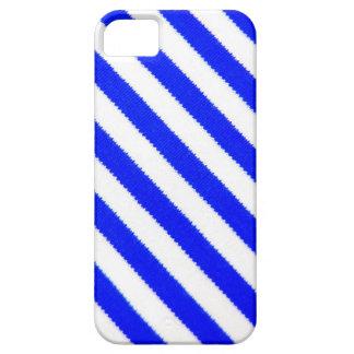 Blått- och vitranddesign iPhone 5 fodraler