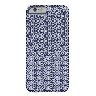 Blått- och vitsnöreiphone case barely there iPhone 6 skal