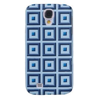 Blått på blåttheltäckande kvadrerar det Samsung fo Galaxy S4 Fodral