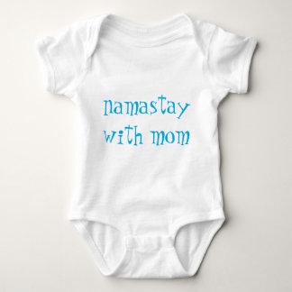 Blått på det vitNamastay spädbarn Tee
