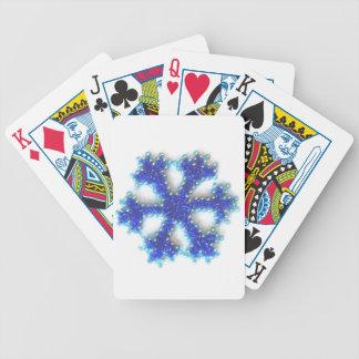 Blått pryder med pärlor snowflaken spelkort