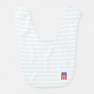 Blått: Puerto Rico flagga Hakklapp