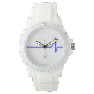 Blått pulserar armbandsur