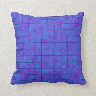 Blått/purpurfärgad chokladpub kudde