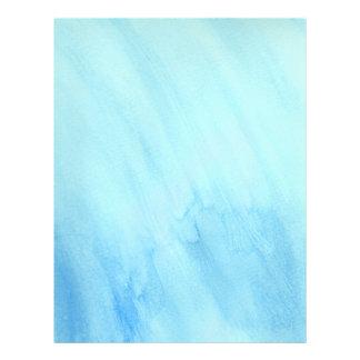 Blått regnar stormvattenvattenfärg målar reklamblad