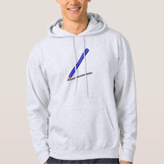 Blått ritar hoodie