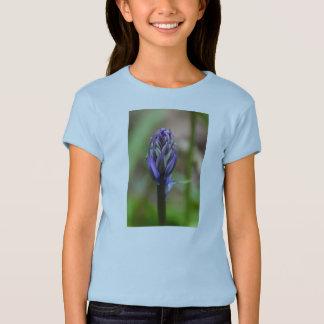 Blått sätta en klocka på knoppflicka T-tröja Tee Shirt