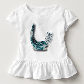 Blått Shofer Shana Tova rufsar småbarnklänningen Tröja