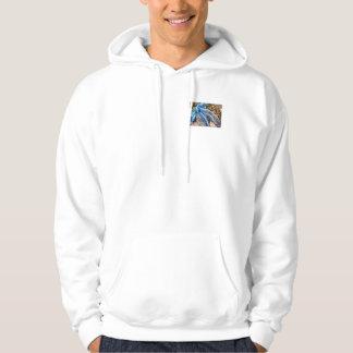 Blått- & silverjulpilbågen med bundit kopplar ihop tröja med luva