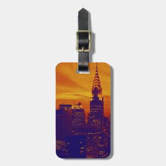 Blått som orange popkonst New York City reser, Bagagebricka