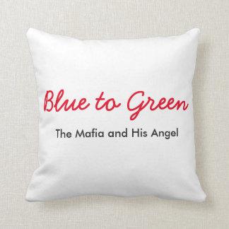 Blått som ska göras grön, kudder prydnadskudde