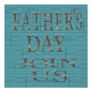Blått stiger ombord fars dagpartyinbjudningar fyrkantigt 13,3 cm inbjudningskort
