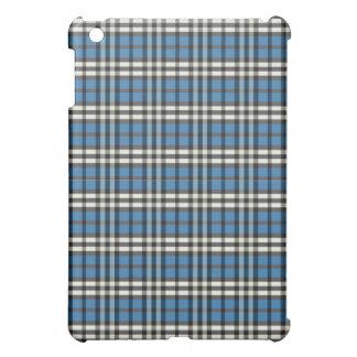 Blått/svart pläd Pern iPad Mini Mobil Fodral