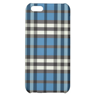 Blått/svart pläd Pern iPhone 5C Mobil Skal