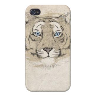 Blått synar fodral för tigeriPhone 4 iPhone 4 Skal