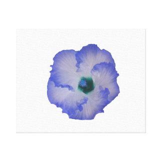 Blått tonad hibiskusblomma canvastryck