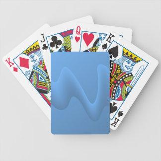 Blått vinkar abstrakt avbildar design spelkort