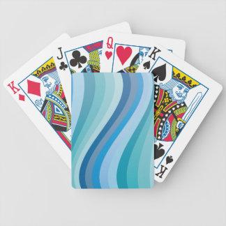 Blått vinkar design spelkort