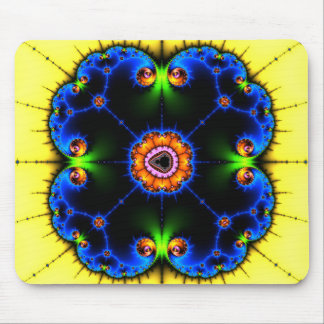 Blått virvlar runt fractalen Mousepad Musmatta