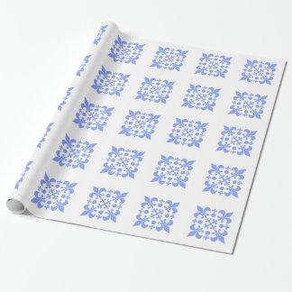 Blåttabstraktdesign som slår in papper presentpapper