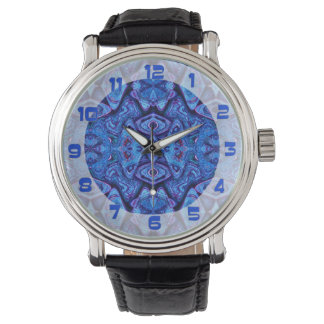 Blåttabstraktmönster Armbandsur