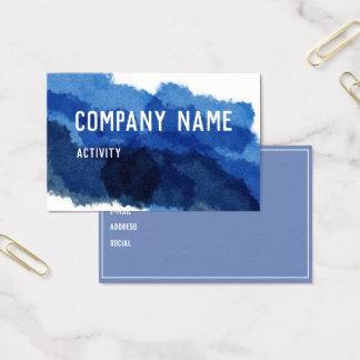 Blåttakvarell Visitkort