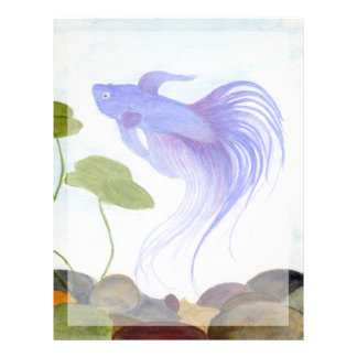 BlåttBetta fisk Brevhuvud