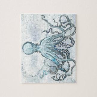 Blåttbläckfiskpussel Pussel