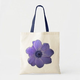 Blåttblommatotot hänger lös blommastrandtote bags kasse