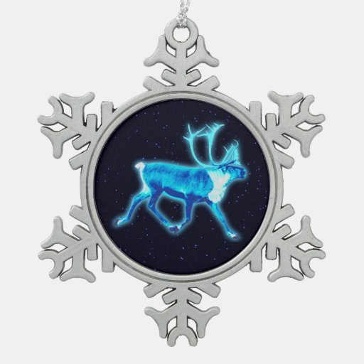 BlåttCaribou (renen) Julgransdekorationer