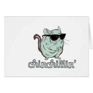 BlåttChinchillin Chinchilla Hälsningskort