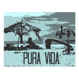 BlåttCosta Rica Pura Vida surfare Vykort