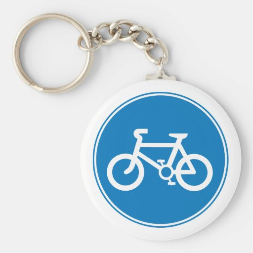Blåttcykelnyckelring Nyckel Ringar