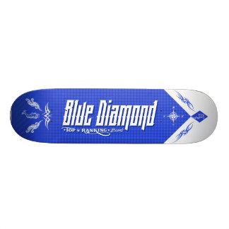 Blåttdiamant #003 old school skateboard bräda 18 cm