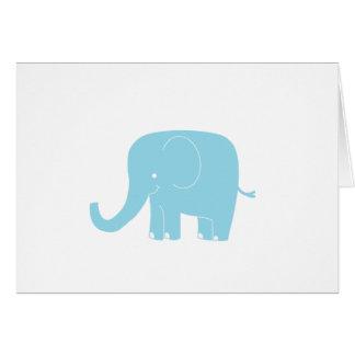 Blåttelefant Notecard Hälsningskort